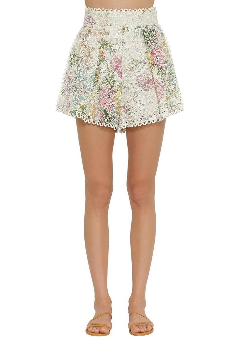 bd35daeeeb Zimmermann Heathers High Waisted Cotton Shorts | Shorts