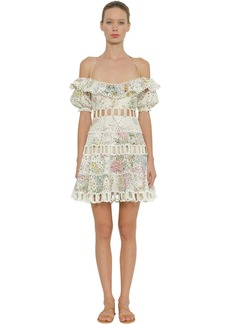 Zimmermann Heathers Off The Shoulder Mini Dress