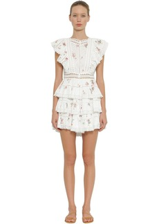 Zimmermann Heathers Printed Cotton Mini Dress