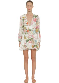 Zimmermann Heathers Printed Linen Mini Dress