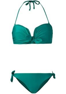 Zimmermann Heathers tied-front bandeau bikini
