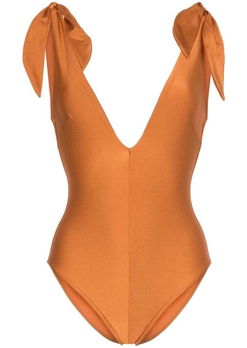 Zimmermann Honour deep-V neck swimsuit