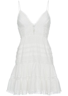 Zimmermann Iris embroidered cami cotton mini dress