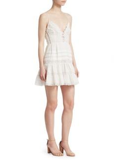 Zimmermann Iris Lace Trim Mini Dress