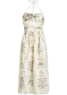 Zimmermann Iris Printed Linen Dress
