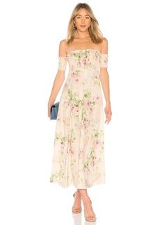 Zimmermann Iris Shirred Bodice Maxi Dress