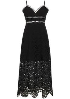 Zimmermann Jaya sleeveless wave bodice cotton dress