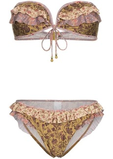 Zimmermann juniper frill bandeau bikini