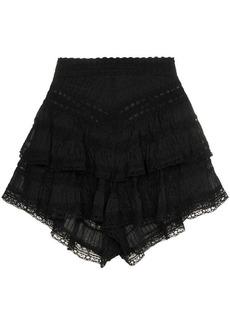 Zimmermann Juniper pintuck lace cotton shorts