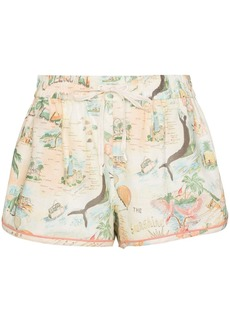 Zimmermann Kirra Queensland print shorts