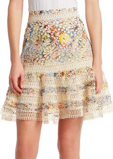 Zimmermann Lace Eyelet Skirt
