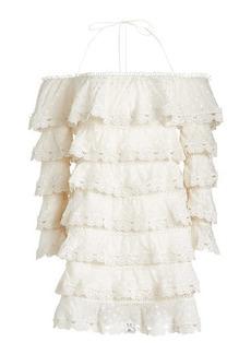 Zimmermann Lace Tiered Mini Dress