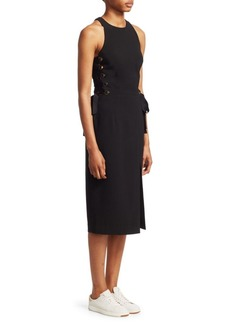 Zimmermann Lace-Up Midi Dress