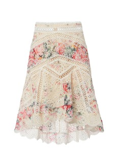 Zimmermann Laelia Diamond Frill Skirt