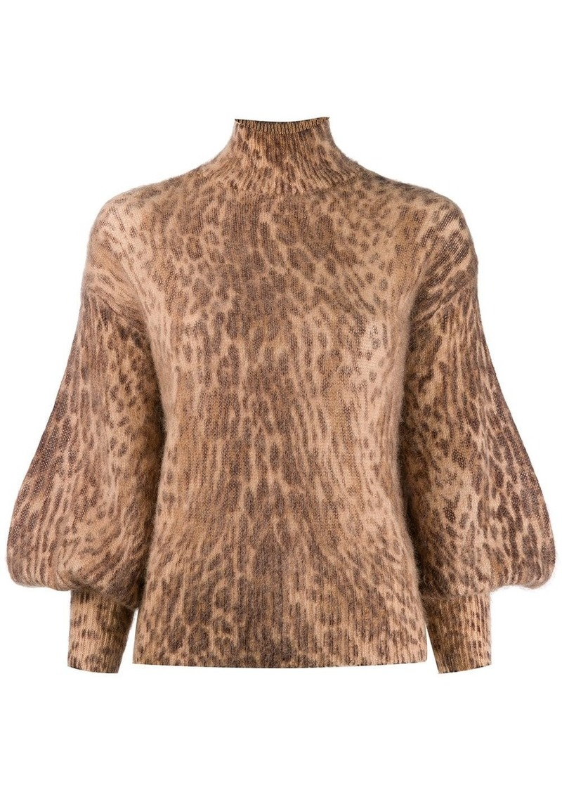 Zimmermann leopard print sweater