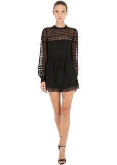 Zimmermann Long Sleeve Silk Romper