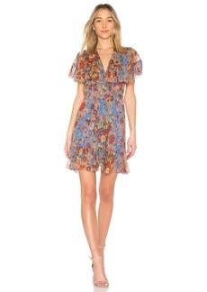 Zimmermann Lovelorn Frill Cape Dress