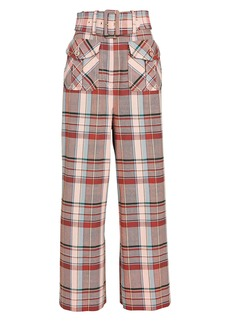 Zimmermann Lucky Belted Check Pants
