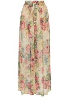 Zimmermann melody floral print silk trousers