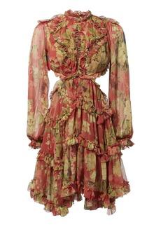Zimmermann Melody Lace-Up Short Dress