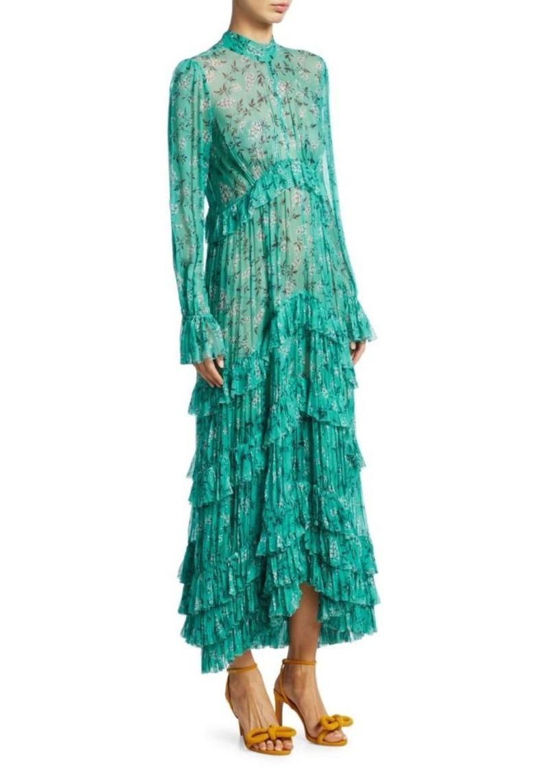 064e2f64c7fdaf Zimmermann Moncur Pleated Silk Floral Shirtdress Now $603.75