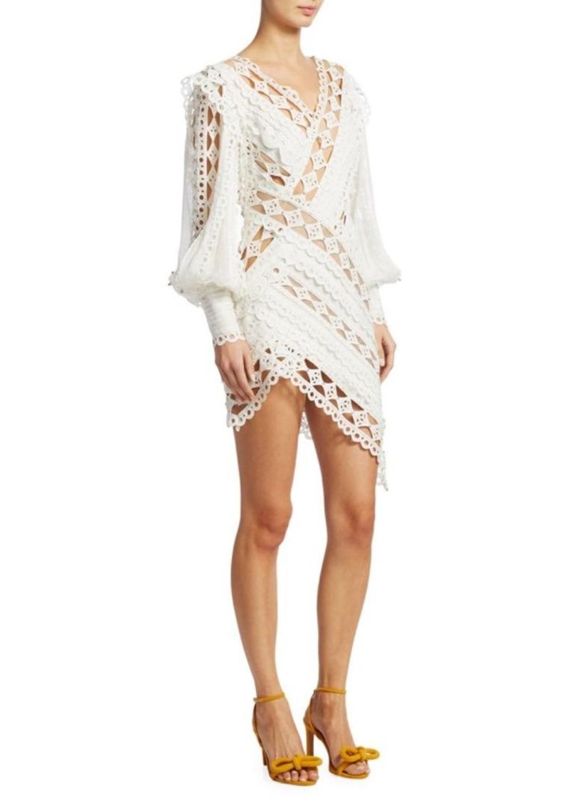 Zimmermann Moncur Studded Embroidery Mini Dress