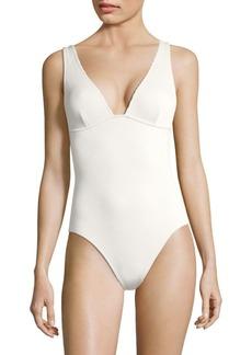 Zimmermann One-Piece Triangle Swimsuit
