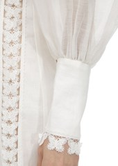 Zimmermann Organza Mini Dress W/butterfly Appliqués