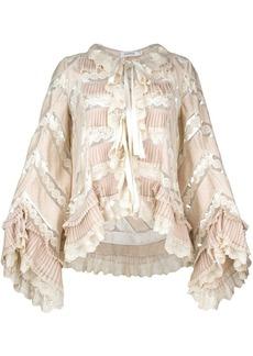 Zimmermann pleated lace blouse