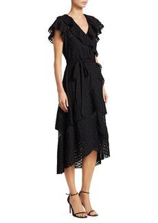 Zimmermann Plisse Dot Wrap Dress