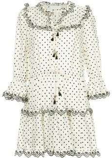 Zimmermann polka dot peasant dress
