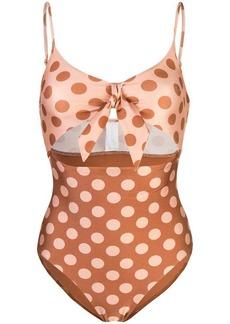 Zimmermann polka dot printed swimsuit
