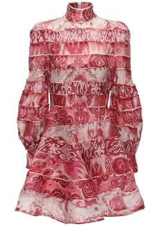 Zimmermann Printed Linen & Silk Mini Dress