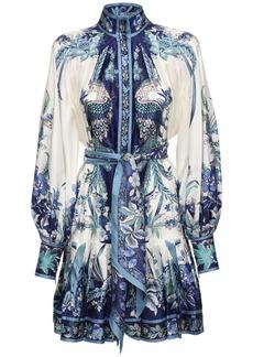 Zimmermann Printed Silk Georgette Mini Dress