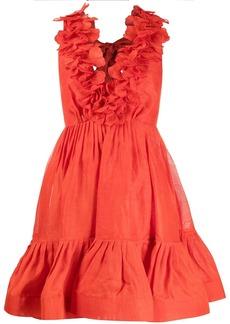 Zimmermann ruffle-detail V-neck dress