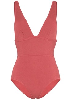 Zimmermann Sculpt V-neck swimsuit