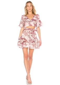 Zimmermann Short Sleeve Wrap Dress