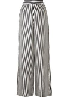Zimmermann Striped Satin-twill Wide-leg Pants