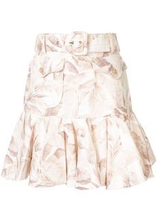 Zimmermann Super Eight palm print skirt