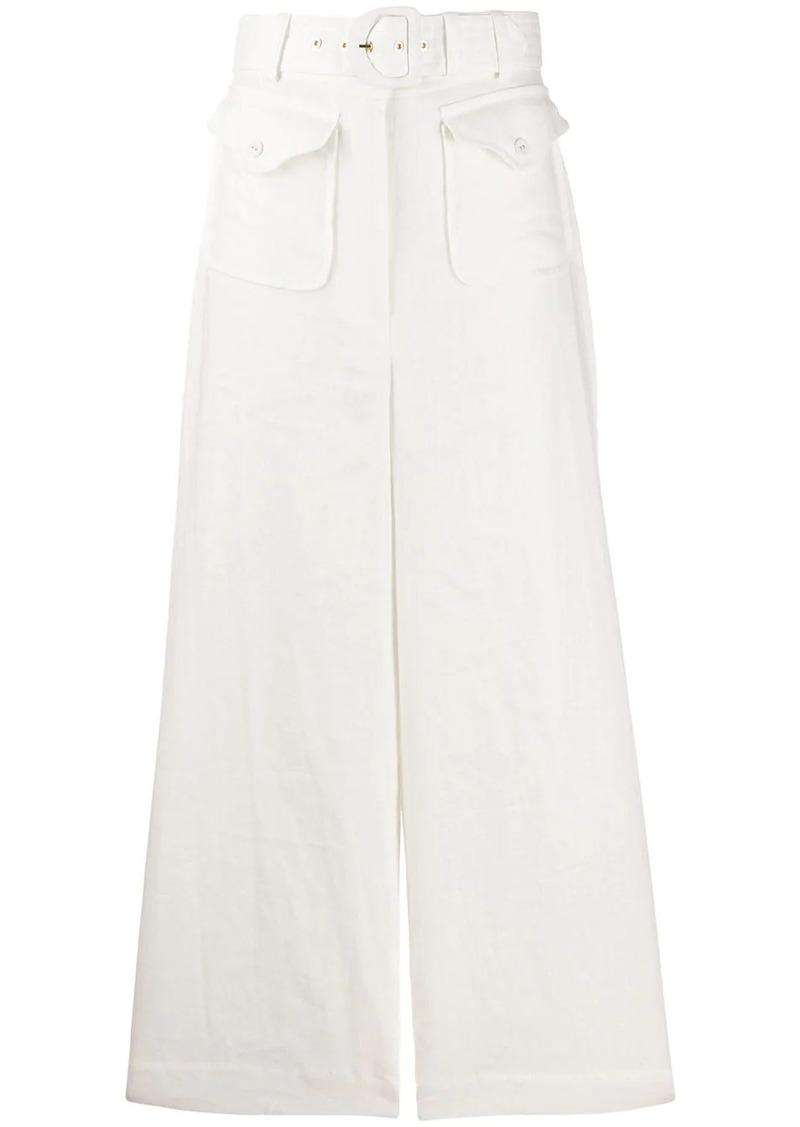 Zimmermann Super Eight wide-leg linen trousers