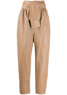 Zimmermann tapered leather trousers