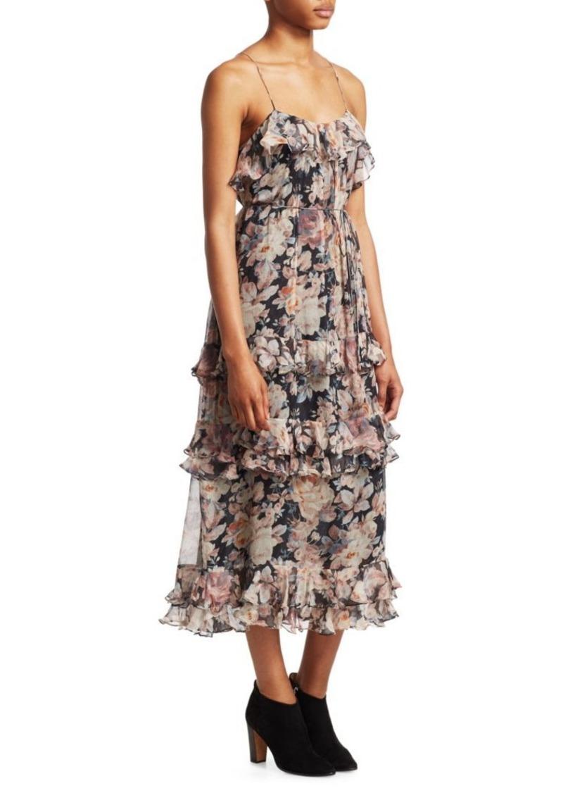 7e29c63c085 Tempest Frolic Silk Midi Dress