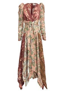 Zimmermann Unbridled Chevron Silk Maxi Dress