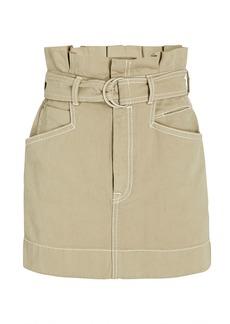 Zimmermann Utility Belted Denim Mini Skirt