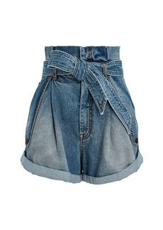 Zimmermann Vintage Stone Denim Paperbag Shorts