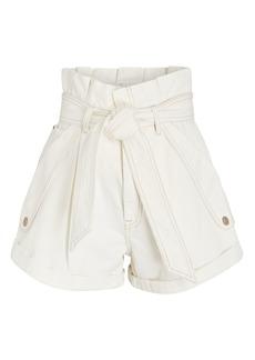 Zimmermann Vintage White Denim Paperbag Shorts