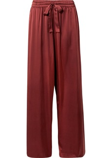 Zimmermann Washed Silk-satin High-rise Wide-leg Pants