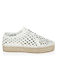 Zimmermann Woven Espadrille Platform Leather Shoes