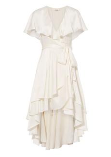Zimmermann Ruffle Wrap Midi Dress