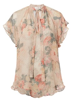 Zimmermann Sunny Frill Swing Floral Top